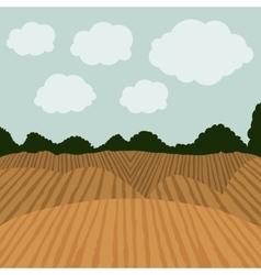 Agriculture landscape design vector image