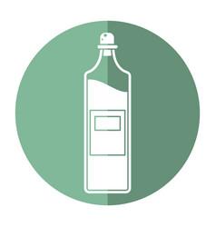 Bottle juice fresh healhty icon vector