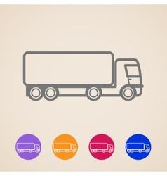 cargo truck icons vector image