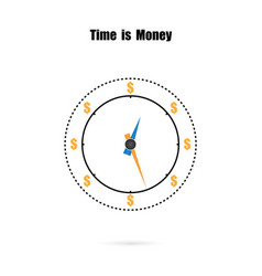 clock and time is money conceptlong term vector image