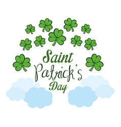 clover patricks day icon vector image
