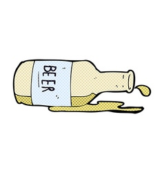 Comic cartoon spilled beer vector
