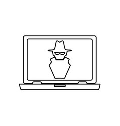 Computer spyware infected vector