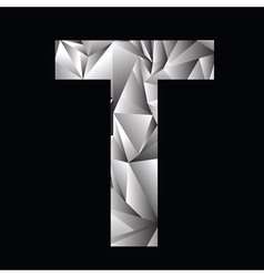 Crystal letter t vector