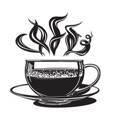 cup with hot coffee vector image vector image