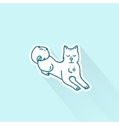 Cute cartoon dog drawing in doodle style great vector