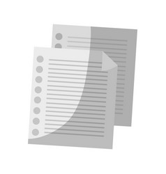 Document page icon vector