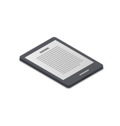 ebook device isometric 3d icon vector image