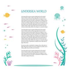 Flat design of elements the underwater vector