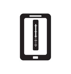 Flat icon in black and white mobile app vector