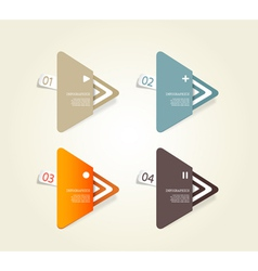 Four colored paper triangles vector image vector image