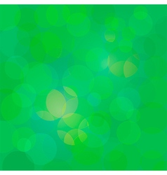 Green abstract circle lights bokeh background vector