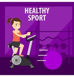 Gym interior with equipment gym vector image