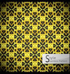 Lotus mesh gold vintage geometric seamless vector