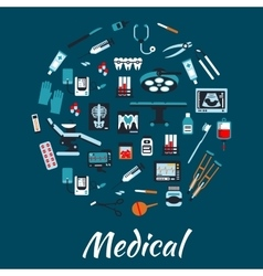 Medical infographic poster background vector