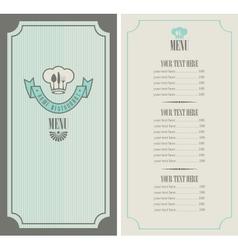 menu template vector image vector image