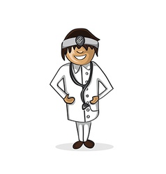 Professional doctor man cartoon figure vector image