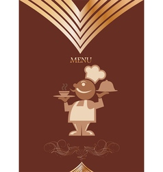 Restaurant menu design with chief vector image