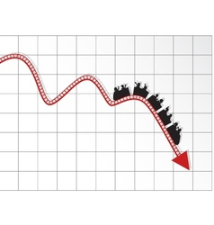 roller coaster graph vector image