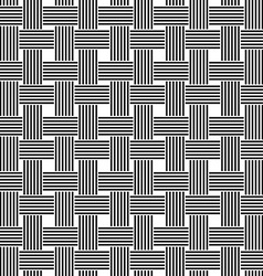 Seamless black and white weave pattern vector