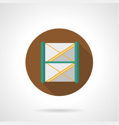 stage frame construction flat round icon vector image