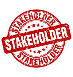 Stakeholder red grunge stamp vector