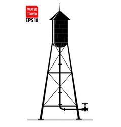 the contour of the old water tower in the united vector image