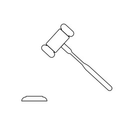the judicial hammer the black color icon vector image