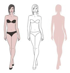 Woman figure vector