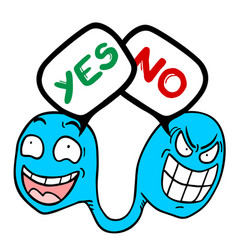 Yes-no worm vector