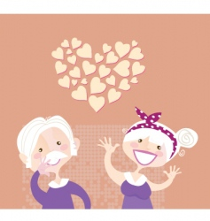 Grandparents ethernal love vector