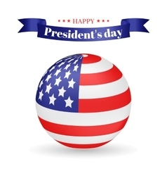 President s day american flag vector