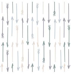 arrow pattern seamless pastel design vector image