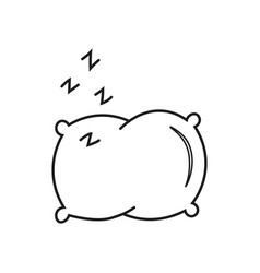 Pillow line icon vector