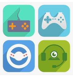 Game icon set vector