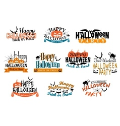 Different party halloween designs vector