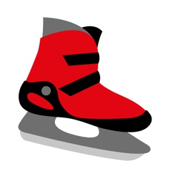 Red ice skates mens vector