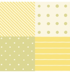 Set of 4 seamless patterns vector