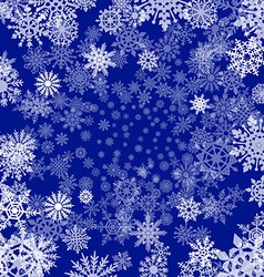 Background with snowflakes blue vector