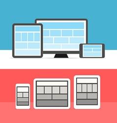 Adaptive design layouts vector image