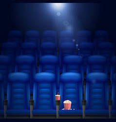 Empty cinema hall vector