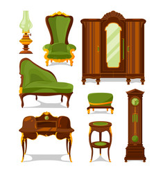 antique furniture in cartoon style vector image
