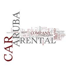 Aruba car rental text background word cloud vector
