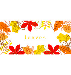 banner with stylized autumn foliage falling vector image