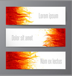 Banners with flame on white background place for vector