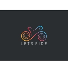 Bike logotype of bicycle design background vector