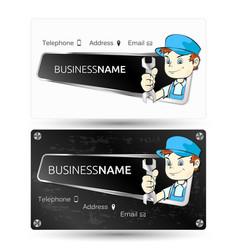 Business card for repair vector