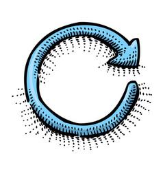 Cartoon image of refresh vector