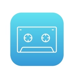 Cassette tape line icon vector image