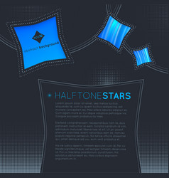 halftone stars abstract background vector image vector image